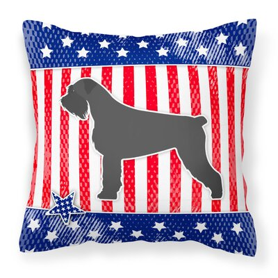 Patriotic Square Solid Indoor/Outdoor Throw Pillow Size: 14 H x 14 W x 3 D