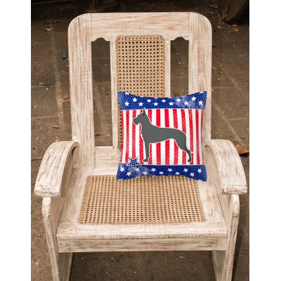 Patriotic Neutral Fabric Indoor/Outdoor Throw Pillow Size: 14 H x 14 W x 3 D