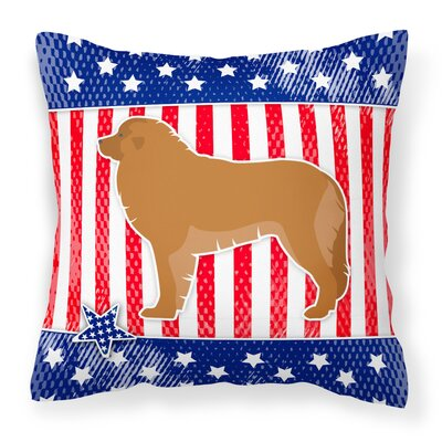 Patriotic Fabric Indoor/Outdoor Throw Pillow Size: 14 H x 14 W x 3 D
