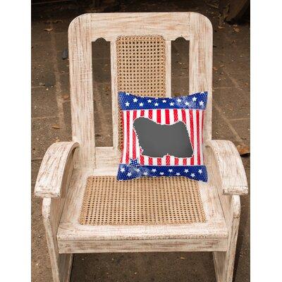 Patriotic Blue/Gray Indoor/Outdoor Throw Pillow Size: 14 H x 14 W x 3 D