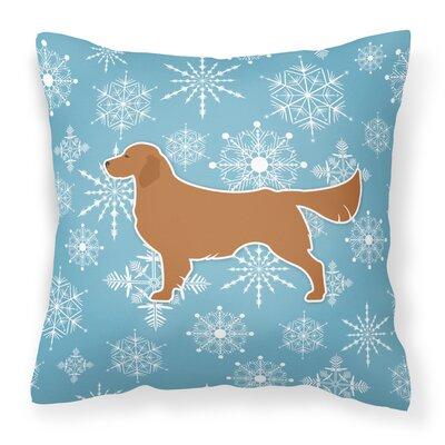 Winter Snowflakes Indoor/Outdoor Throw Pillow Size: 14 H x 14 W x 3 D