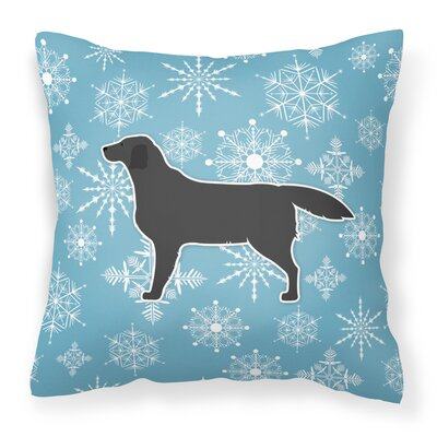 Winter Snowflakes Indoor/Outdoor Throw Pillow Size: 18 H x 18 W x 3 D