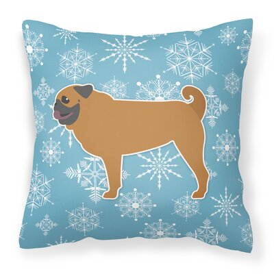 Winter Snowflakes Indoor/Outdoor Throw Pillow Size: 14 H x 14 W x 3 D