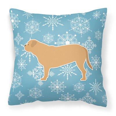 Winter Snowflakes Indoor/Outdoor Throw Pillow Size: 18 H x 18 W x 3 D