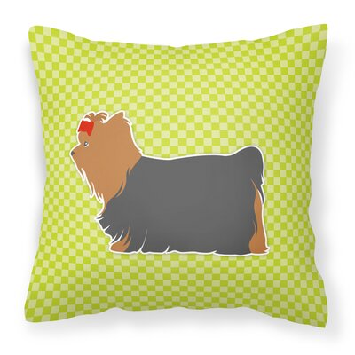 Yorkshire Terrier Indoor/Outdoor Throw Pillow Size: 14 H x 14 W x 3 D