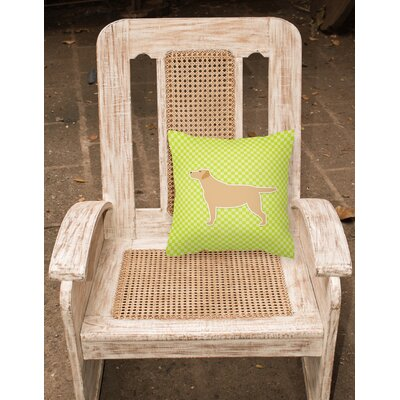 Labrador Square Indoor/Outdoor Throw Pillow Size: 14 H x 14 W x 3 D, Color: Brown/Green