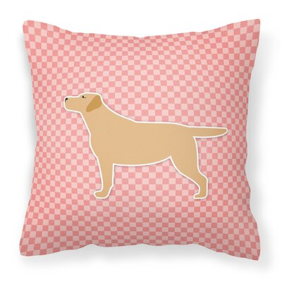 Labrador Indoor/Outdoor Throw Pillow Color: Brown/Pink, Size: 18 H x 18 W x 3 D