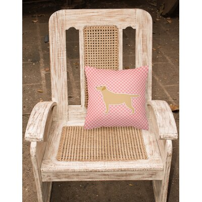 Labrador Square Indoor/Outdoor Throw Pillow Size: 14 H x 14 W x 3 D, Color: Brown/Pink