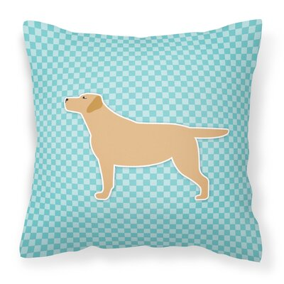 Labrador Indoor/Outdoor Throw Pillow Size: 14 H x 14 W x 3 D, Color: Brown/Blue