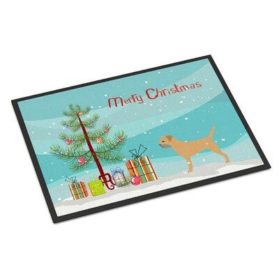 Border Terrier Door Mat Rug Size: 16 x 23