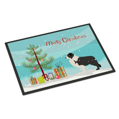 Border Collie Door Mat Rug Size: 2 x 3