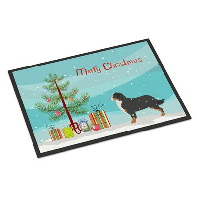 Bernese Mountain Door Mat Rug Size: 2 x 3