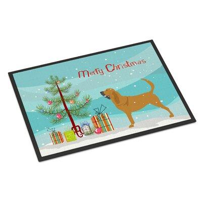 Bloodhound Door Mat Mat Size: 2 x 3
