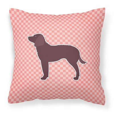 American Water Spaniel Indoor/Outdoor Throw Pillow Size: 14 H x 14 W x 3 D, Color: Pink