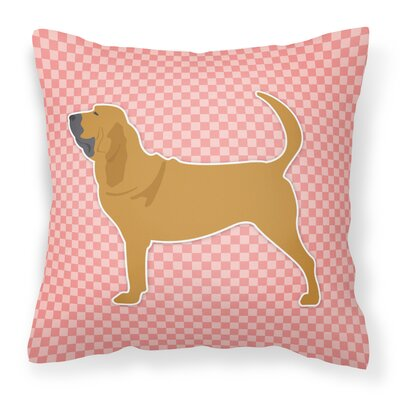 Bloodhound Indoor/Outdoor Throw Pillow Size: 14 H x 14 W x 3 D, Color: Pink