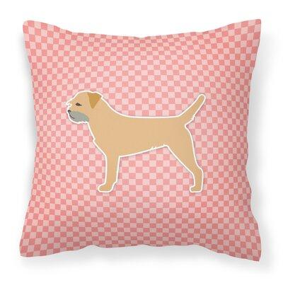 Border Terrier Indoor/Outdoor Throw Pillow Size: 18 H x 18 W x 3 D, Color: Pink