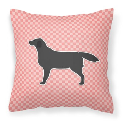 Labrador Indoor/Outdoor Throw Pillow Size: 14 H x 14 W x 3 D, Color: Pink