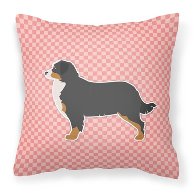 Bernese Mountain Indoor/Outdoor Throw Pillow Size: 14 H x 14 W x 3 D, Color: Pink