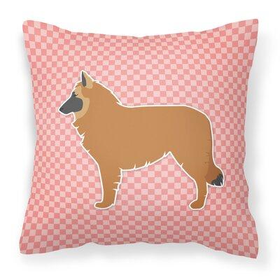 Belgian Shepherd Indoor/Outdoor Throw Pillow Size: 14 H x 14 W x 3 D, Color: Green