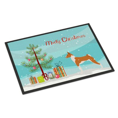 Basenji Door Mat Mat Size: 16 x 23