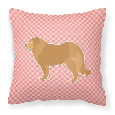 Caucasian Shepherd Dog Indoor/Outdoor Throw Pillow Size: 14 H x 14 W x 3 D, Color: Pink