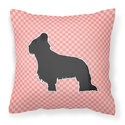 Briard Indoor/Outdoor Throw Pillow Size: 18 H x 18 W x 3 D, Color: Pink