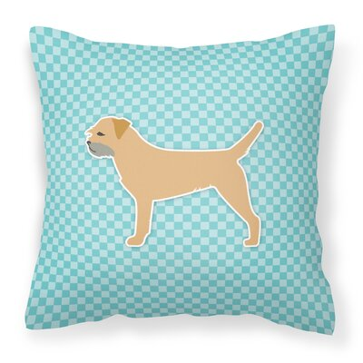 Border Terrier Indoor/Outdoor Throw Pillow Size: 14 H x 14 W x 3 D, Color: Blue