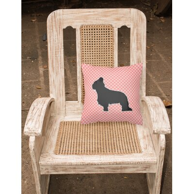 Briard Indoor/Outdoor Throw Pillow Size: 14 H x 14 W x 3 D, Color: Pink