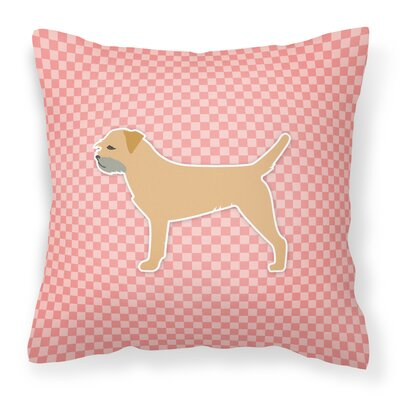Border Terrier Indoor/Outdoor Throw Pillow Size: 14 H x 14 W x 3 D, Color: Pink