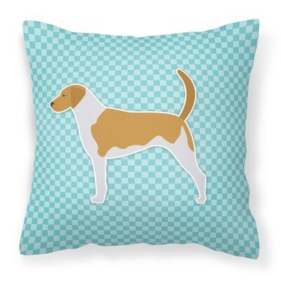 American Foxhound Indoor/Outdoor Throw Pillow Size: 14 H x 14 W x 3 D, Color: Blue