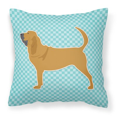Bloodhound Indoor/Outdoor Throw Pillow Size: 14 H x 14 W x 3 D, Color: Blue