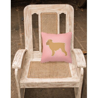 Brussels Griffon Indoor/Outdoor Throw Pillow Size: 14 H x 14 W x 3 D, Color: Pink