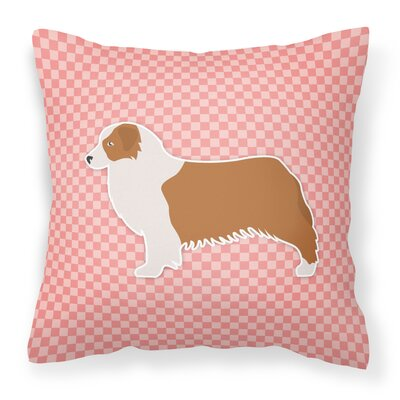 Square Indoor/Outdoor Throw Pillow Size: 14 H x 14 W x 3 D, Color: Pink