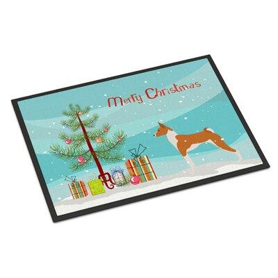 Basenji Door Mat Mat Size: 2 x 3