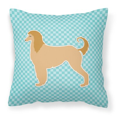 Afghan Hound Square Indoor/Outdoor Throw Pillow Size: 14 H x 14 W x 3 D, Color: Blue