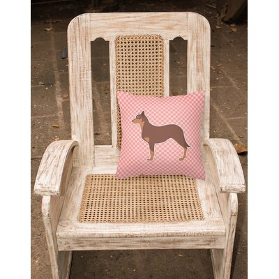 Australian Kelpie Indoor/Outdoor Throw Pillow Size: 14 H x 14 W x 3 D, Color: Pink