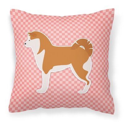 Akita Indoor/Outdoor Throw Pillow Size: 14 H x 14 W x 3 D, Color: Pink