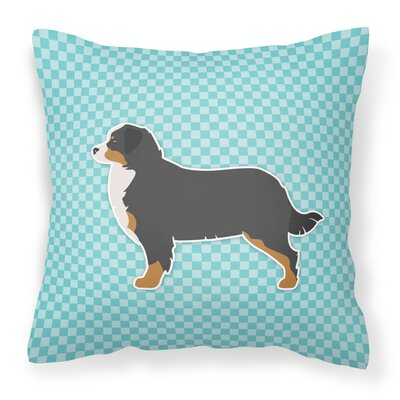 Bernese Mountain Indoor/Outdoor Throw Pillow Size: 18 H x 18 W x 3 D, Color: Blue
