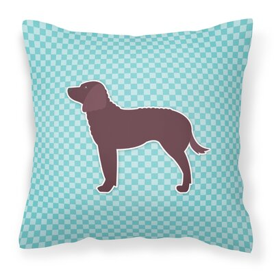 American Water Spaniel Indoor/Outdoor Throw Pillow Size: 14 H x 14 W x 3 D, Color: Blue