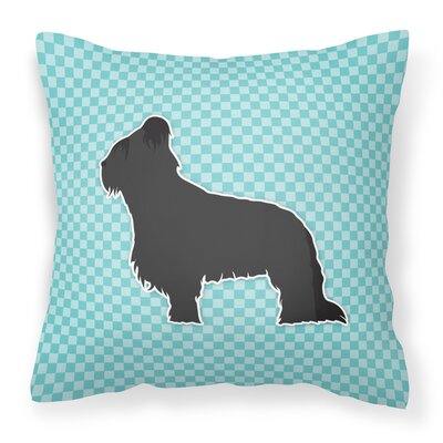 Briard Indoor/Outdoor Throw Pillow Color: Blue, Size: 18 H x 18 W x 3 D