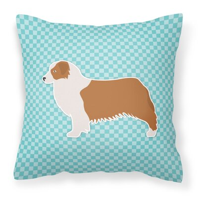 Square Indoor/Outdoor Throw Pillow Size: 14 H x 14 W x 3 D, Color: Blue