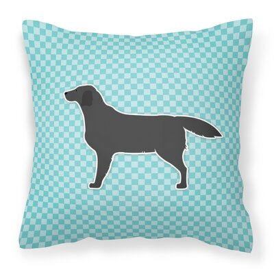 Labrador Indoor/Outdoor Throw Pillow Size: 14 H x 14 W x 3 D, Color: Blue