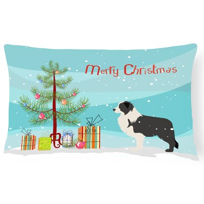 Border Collie Indoor/Outdoor Lumbar Pillow