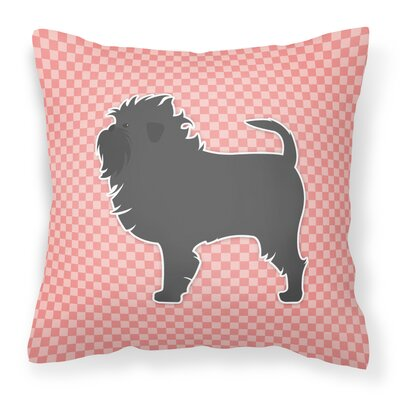 Affenpinscher Indoor/Outdoor Throw Pillow Size: 18 H x 18 W x 3 D, Color: Pink