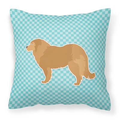 Caucasian Shepherd Dog Indoor/Outdoor Throw Pillow Size: 14 H x 14 W x 3 D, Color: Blue