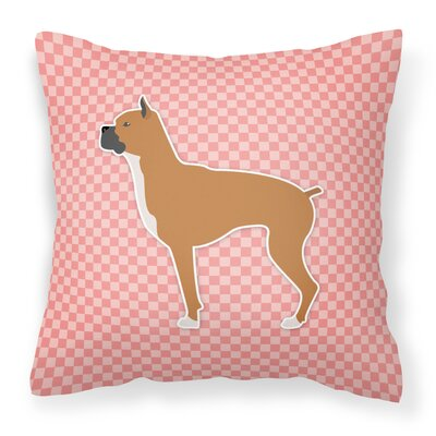 Boxer Indoor/Outdoor Throw Pillow Size: 14 H x 14 W x 3 D, Color: Pink
