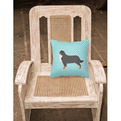 Bernese Mountain Indoor/Outdoor Throw Pillow Size: 14 H x 14 W x 3 D, Color: Blue