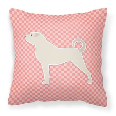 Anatolian Shepherd Indoor/Outdoor Throw Pillow Size: 14 H x 14 W x 3 D, Color: Pink