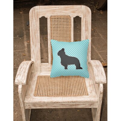 Briard Indoor/Outdoor Throw Pillow Size: 14 H x 14 W x 3 D, Color: Blue