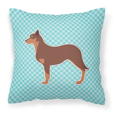 Australian Kelpie Indoor/Outdoor Throw Pillow Size: 18 H x 18 W x 3 D, Color: Pink